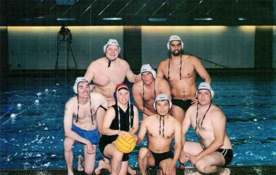 Playing with Seattle Water Polo team in 2001